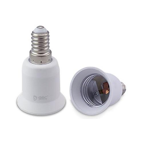 Adaptador E14 a E27 blanco GSC