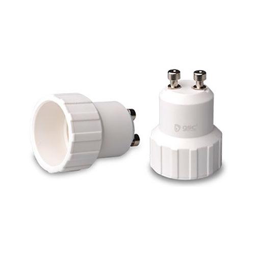 Adaptador GU10 a E14 blanco GSC