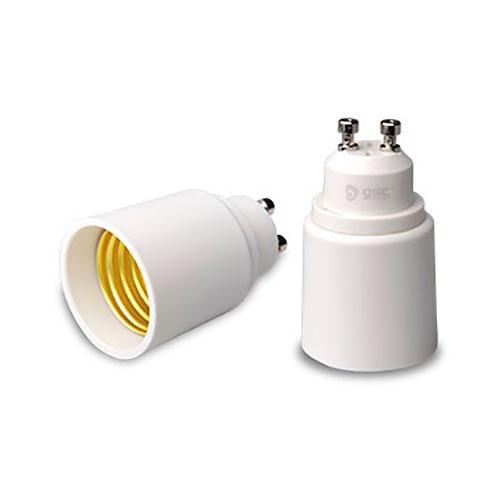 Adaptador GU10 a E27 blanco GSC