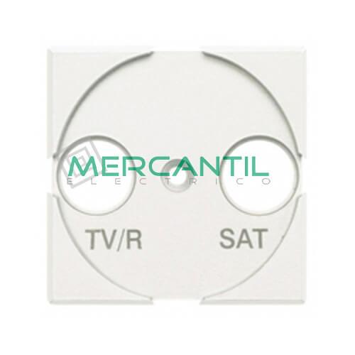 Adaptador con Serigrafia TV/R-SAT 2 Modulos Axolute BTICINO