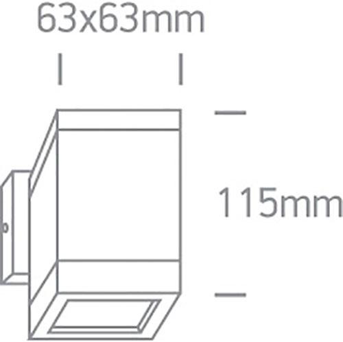 dimensiones-aplique-led-cuadrado-35w-gu10-mr16-superficie-aluminio-antracita-one-light-67130f-an
