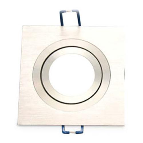 Aro basculante cuadrado empotrable/liso GU10 Max.50W para bombillas dicroicas aluminio GSC