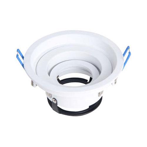 Aro basculante redondo empotrable 360 GU10 Max.50W 110x55mm para bombillas dicroicas aluminio blanco GSC