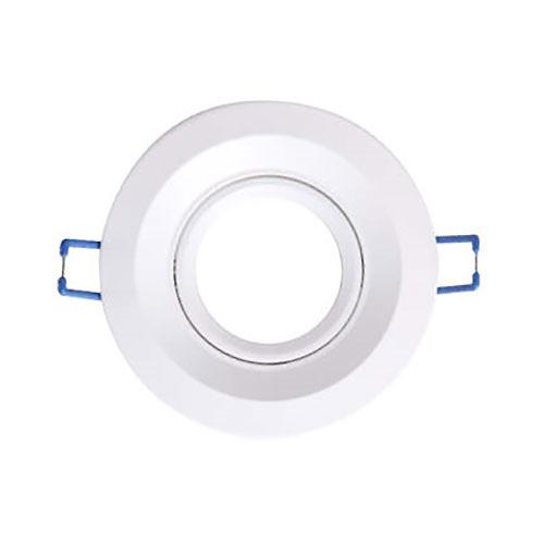 Aro basculante redondo empotrable GU10 Max.50W 100x25mm para bombillas dicroicas aluminio blanco GSC