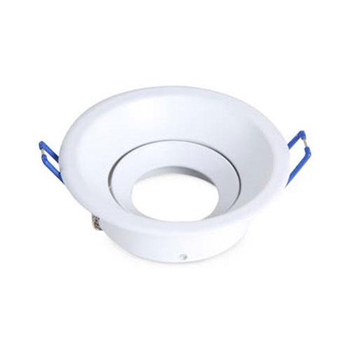 Aro basculante redondo empotrable GU10 Max.50W 105x33mm para bombillas dicroicas aluminio blanco GSC