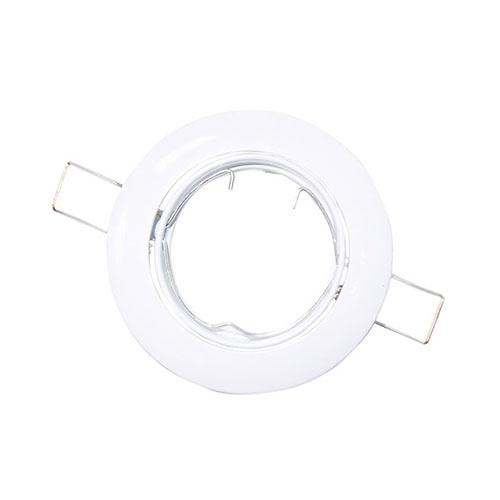 Aro basculante redondo empotrable GU10 Max.50W para bombillas dicroicas blanco GSC