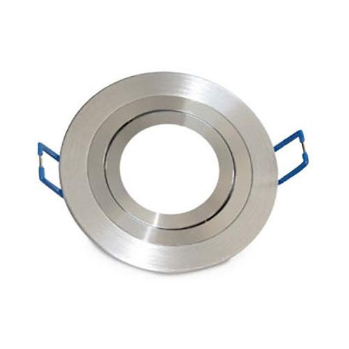 Aro basculante redondo empotrable/liso GU10 Max.50W para bombillas dicroicas aluminio GSC