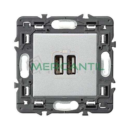 base-cargador-usb-doble-tipo-a-a-aluminio-valena-next-legrand-741331