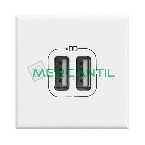 Base Doble USB Para Recarga con Tension 5V 2 Modulos Axolute BTICINO