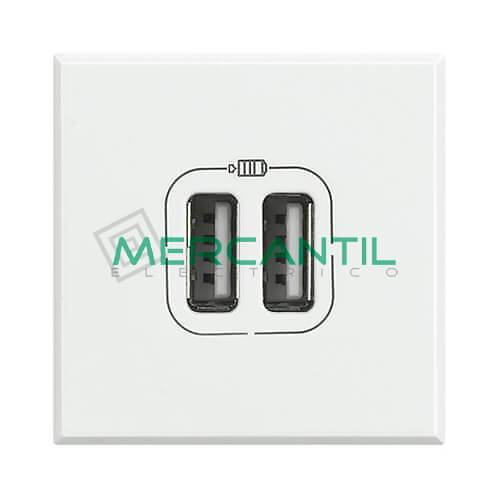 Base Doble USB con Tension 5V 2 Modulos Axolute BTICINO