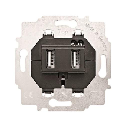 Base doble cargador USB tipo A 5Vdc Mec 18 BJC