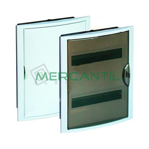Caja distribuci n empotrar hasta 28 elementos 320x420x75 for Caja cuadro electrico