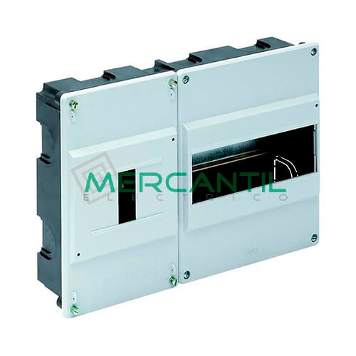 Caja ICP Empotrar de 1 a 4 Elementos 40A y Distribución hasta 8 Elementos 277x188x55 SOLERA