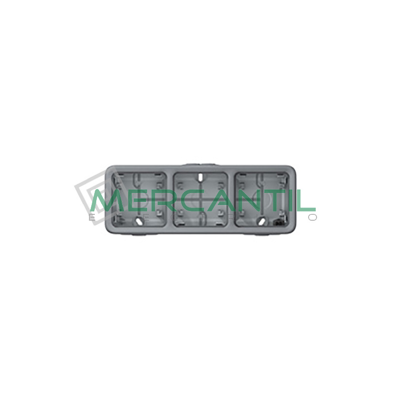 Caja de Superficie con Membrana 3 Elementos Horizontal Plexo LEGRAND