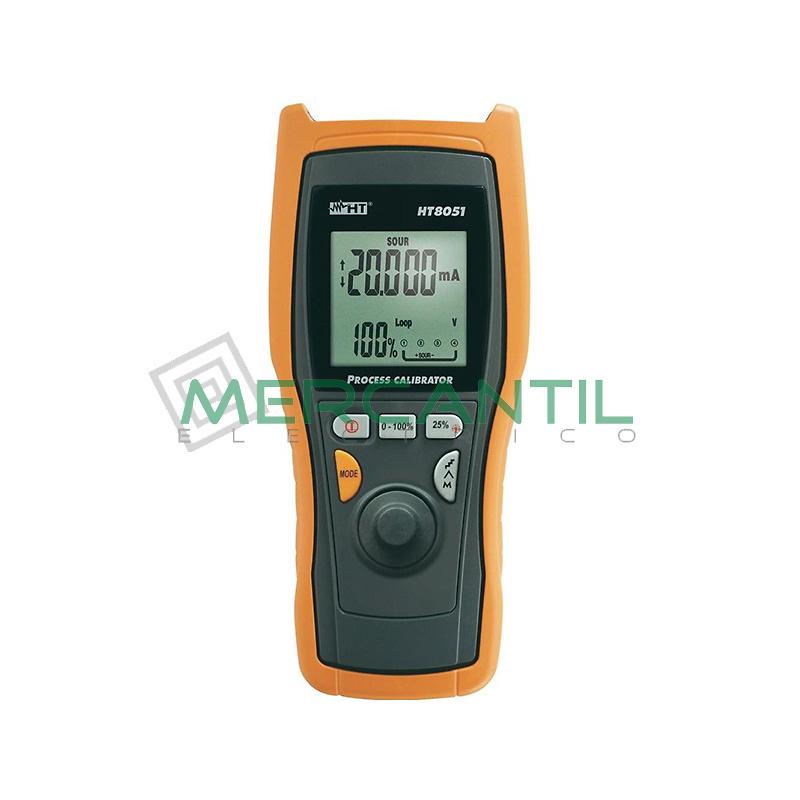 Calibrador de Procesos Profesional con Selector de Regulacion HT8051 HT INSTRUMENTS