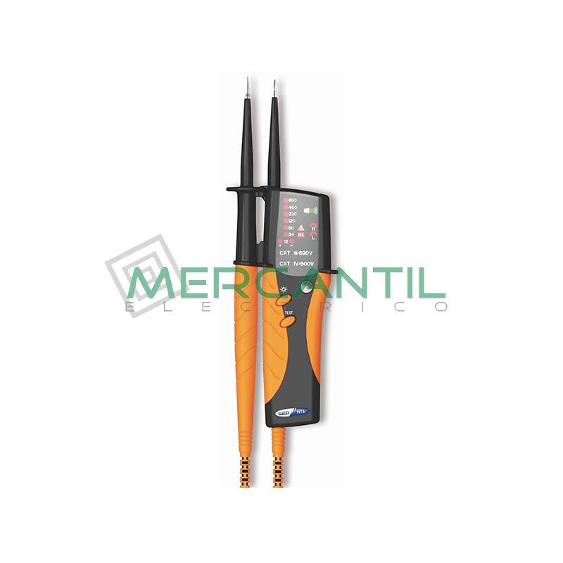 Comprobador de Lamparas de Gas con Detector de Tension y Sentido Ciclico de las Fases HT9 HT INSTRUMENTS