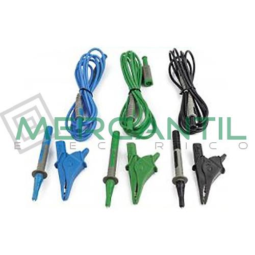Conjunto de 3 Cables, 3 Cocodrilos y 3 Puntas UNIVERSALKITCOMBI HT INSTRUMENTS