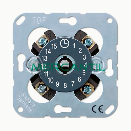 Conmutador Unipolar Temporizador Giratorio LS990 JUNG