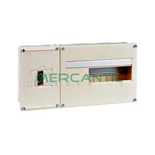 Cuadro de Abonado de Empotrar 1 Fila con ICP32 y 12 Modulos Pragma Basic SCHNEIDER - Sin Puerta