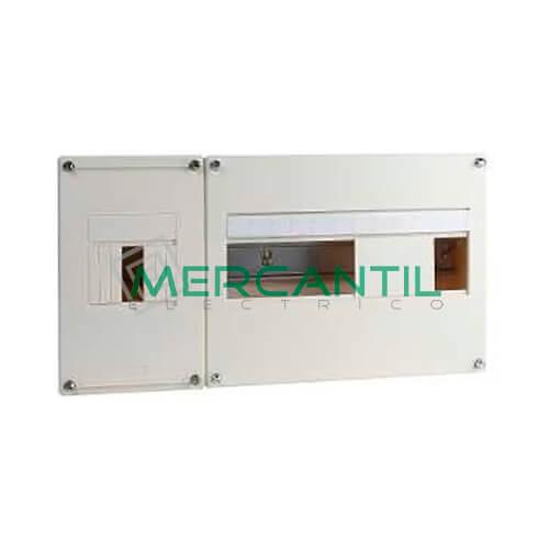 Cuadro de Abonado de Superficie 1 Fila con ICP32 y 12 Modulos Pragma Basic SCHNEIDER - Sin Puerta