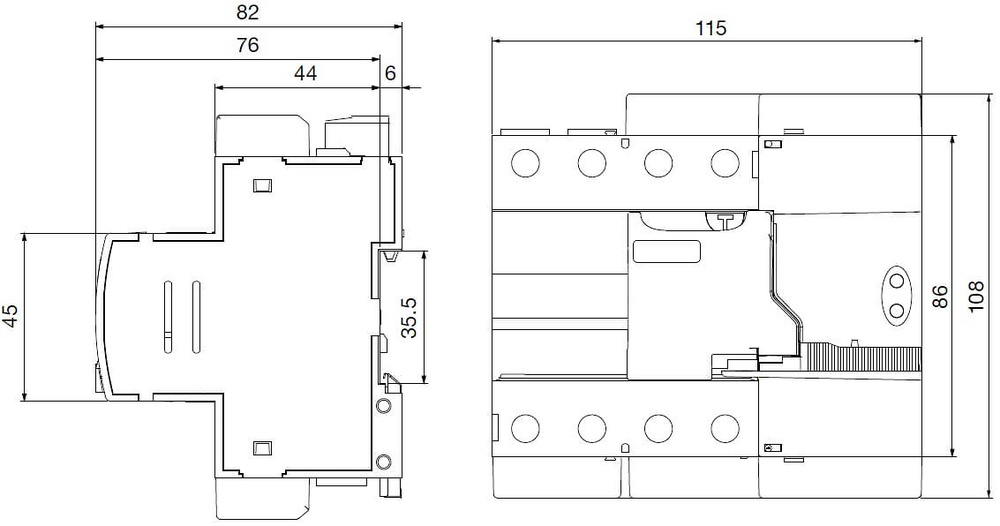 diferencial-rearmable-4p-rec3-circutor-dimensiones