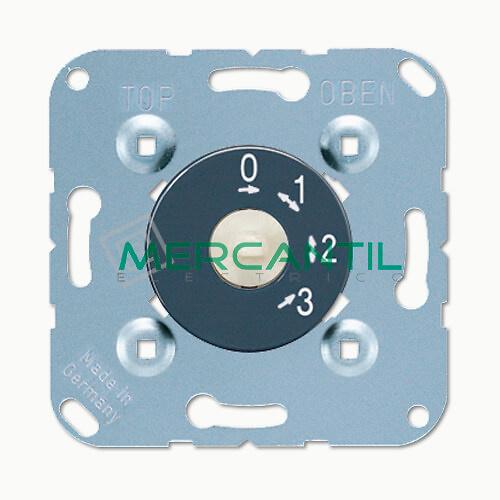 Interruptor Giratorio de 3 Posiciones y Cero LS990 JUNG