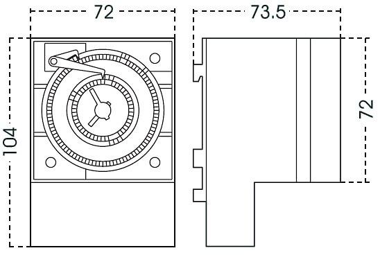 Orbis crono qrd 2x10 Interruptor horario anal/ógico crono qrd 2x10