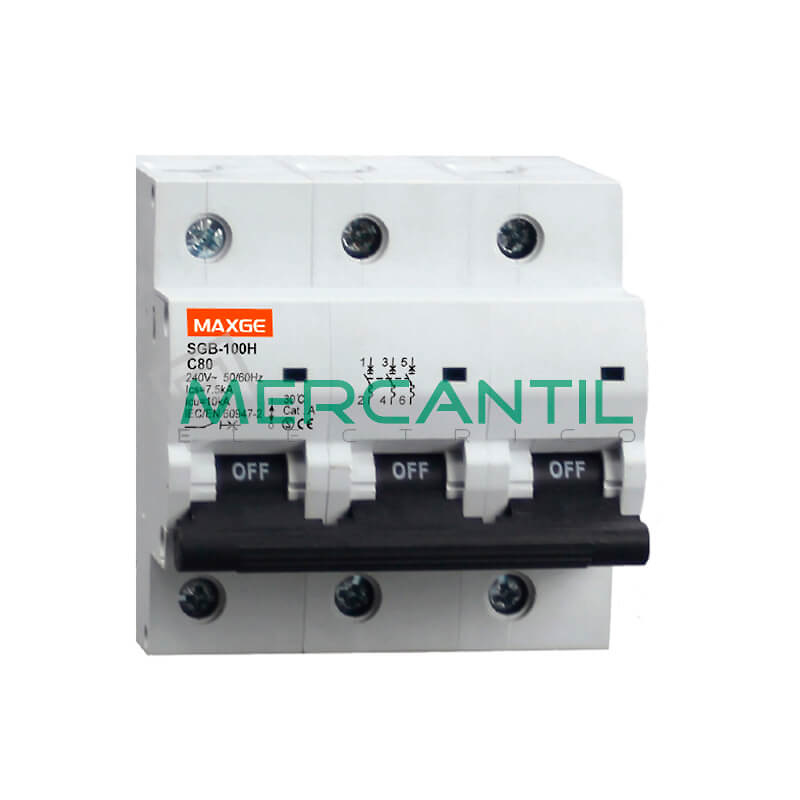 Interruptor magnetotermico 3p 125a sgb125h industrial - Interruptor magnetotermico precio ...