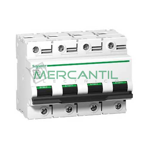 Interruptor Magnetotermico 4P 80A C120N Sector Industrial SCHNEIDER