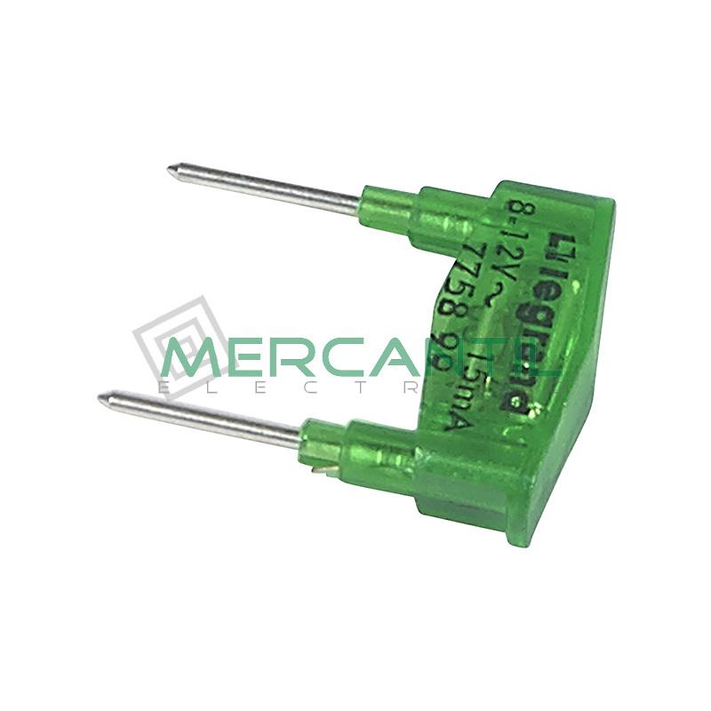 Lampara 12V 15mA Verde Plexo LEGRAND