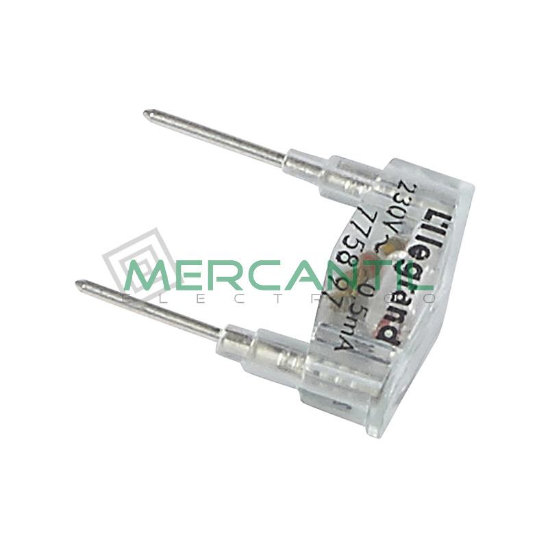 Lampara 230V 0,5mA Verde Plexo LEGRAND
