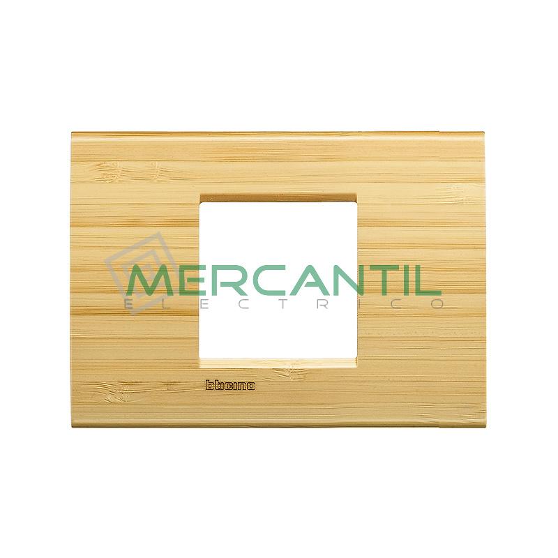 Marco Cuadrado Rectangular Living Light BTICINO - Color Bambu
