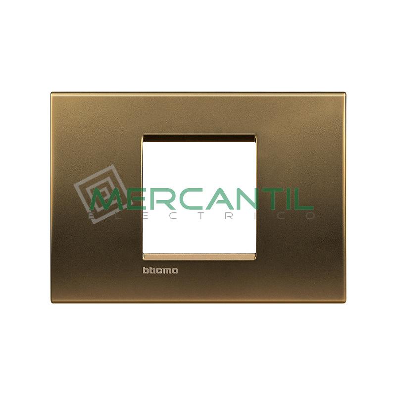 Marco Cuadrado Rectangular Living Light BTICINO - Color Bronce