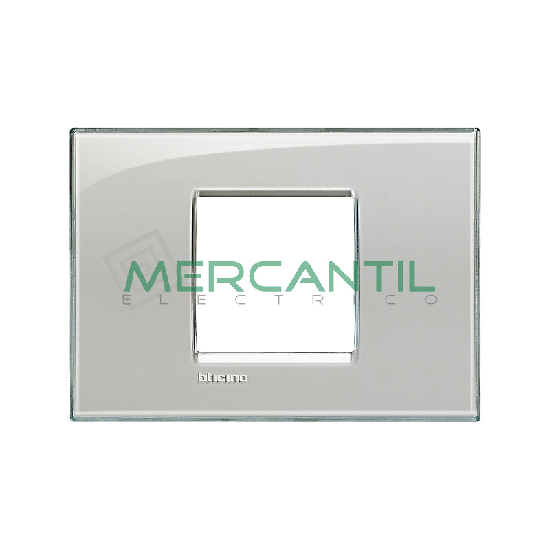 Marco Cuadrado Rectangular Living Light BTICINO - Color Gris Hielo