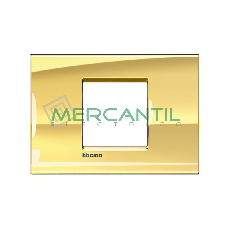 Marco Cuadrado Rectangular Living Light BTICINO - Color Oro Frio