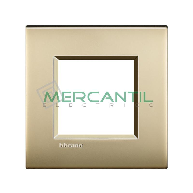 Marco Cuadrado Universal Living Light Air BTICINO - Color Oro Satinado Air