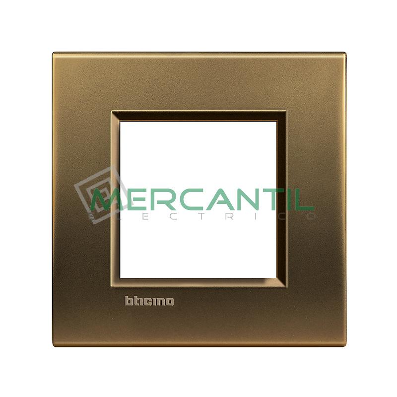 Marco Cuadrado Universal Living Light BTICINO - Color Bronce