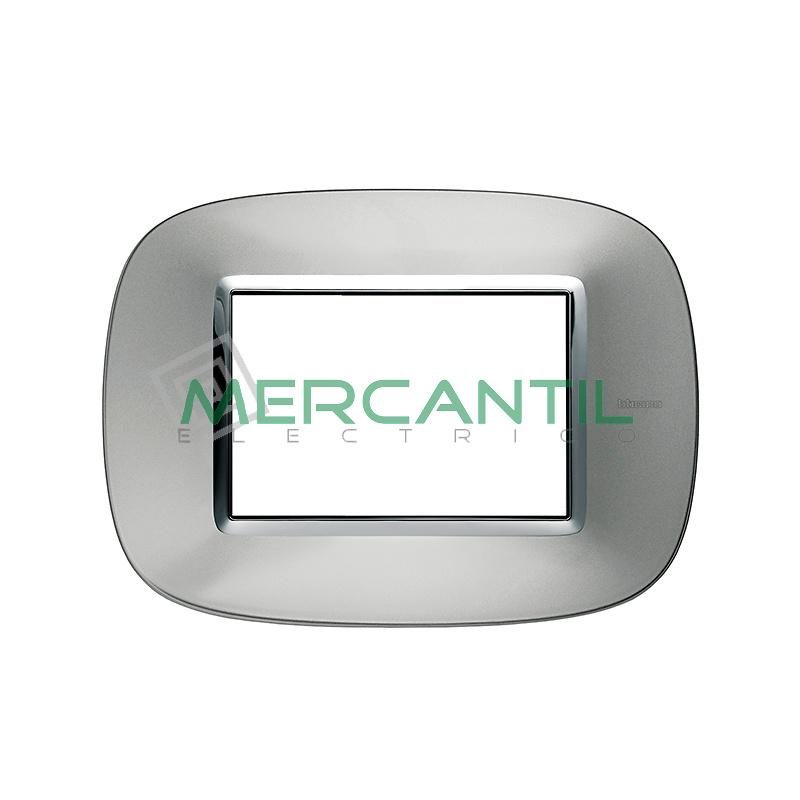 Marco Eliptico Rectangular Axolute BTICINO - Color Aluminio AXOLUTE