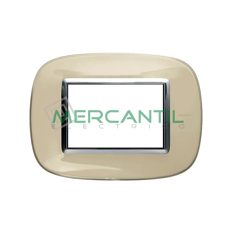 Marco Eliptico Rectangular Axolute BTICINO - Color Marfil Liquido