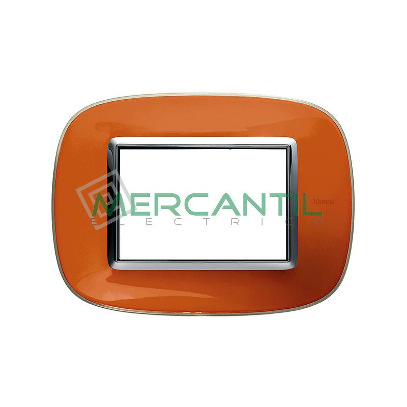Marco Eliptico Rectangular Axolute BTICINO - Color Naranja Liquido
