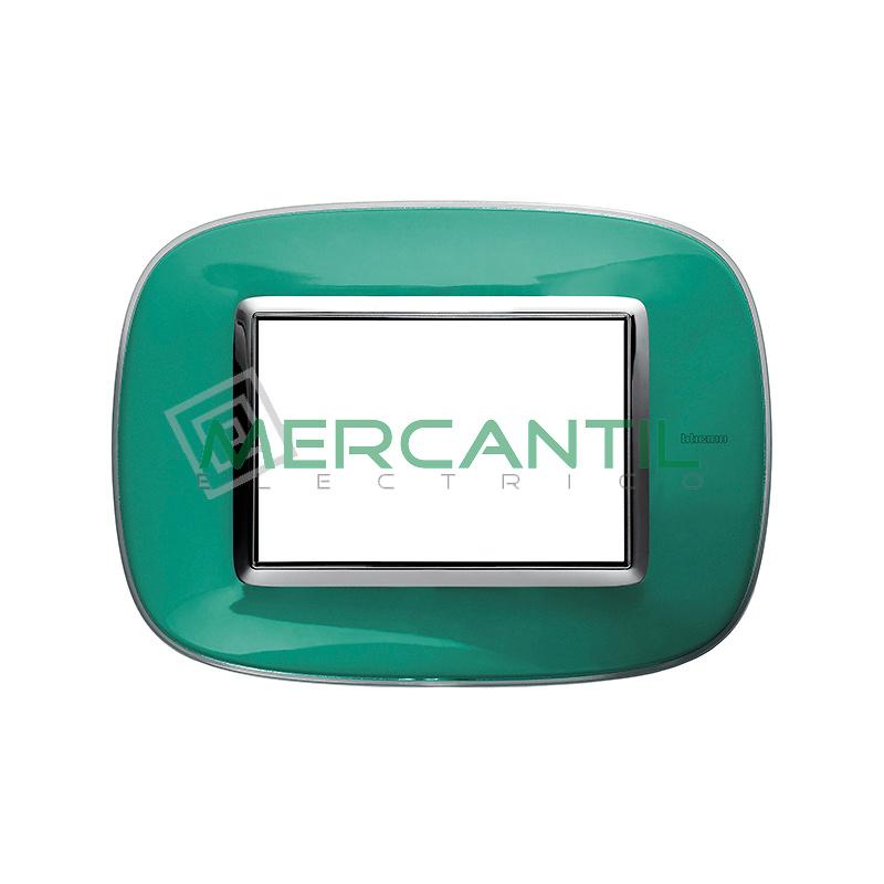 Marco Eliptico Rectangular Axolute BTICINO - Color Verde Liquido