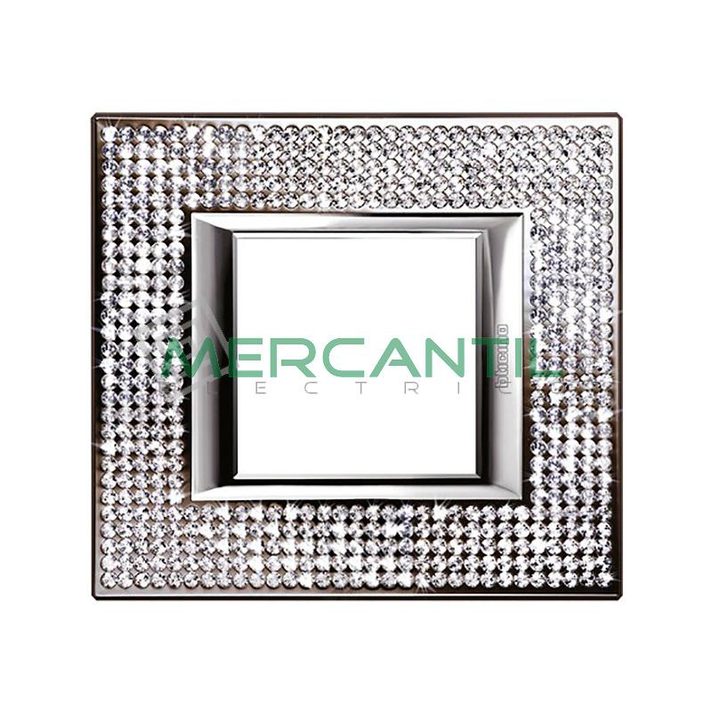 Marco Embellecedor Rectangular Axolute BTICINO - Color Swarovski Crystal