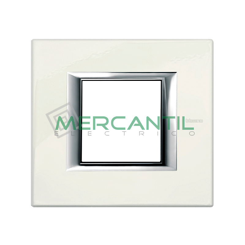 Marco Embellecedor Universal Axolute BTICINO - Color Blanco Limoges