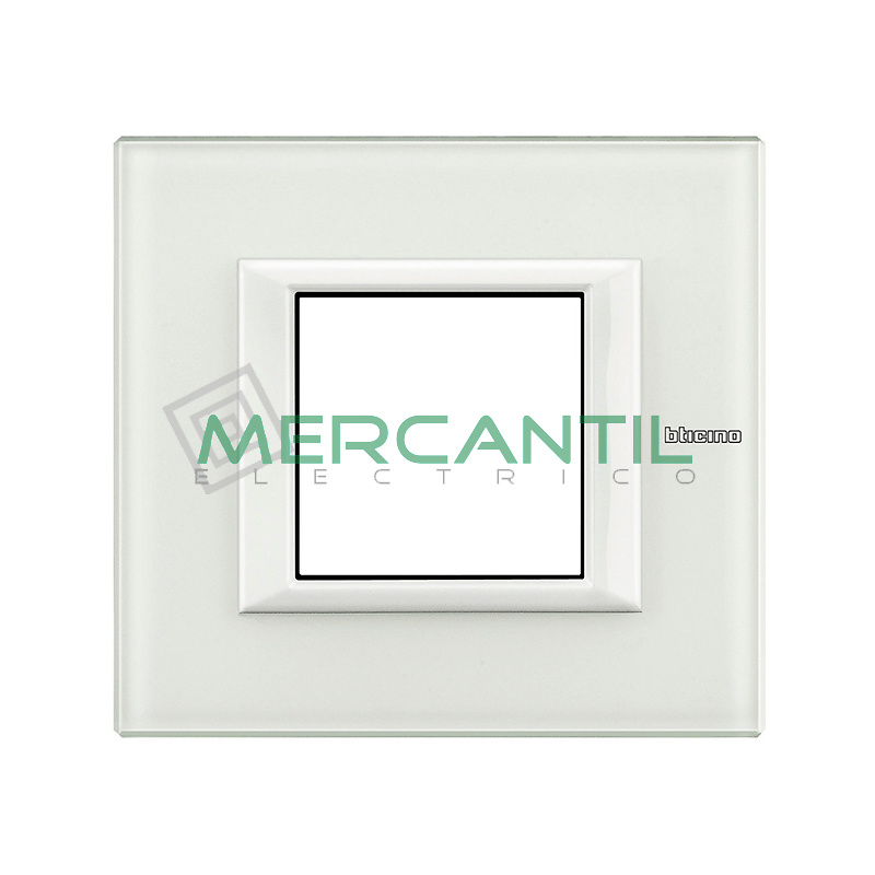 Marco Embellecedor Universal Axolute BTICINO - Color Cristal Blanco