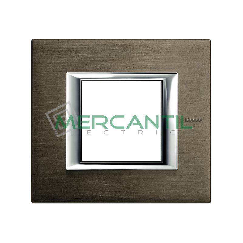 Marco Rectilíneo Universal Axolute BTICINO - Color Bronce
