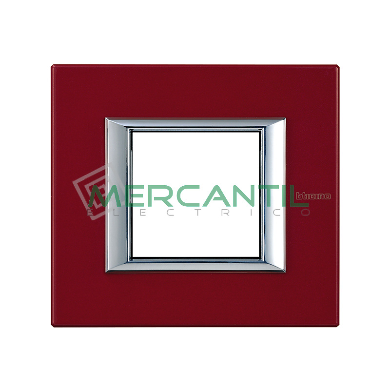 Marco Rectilíneo Universal Axolute BTICINO - Color Rojo China