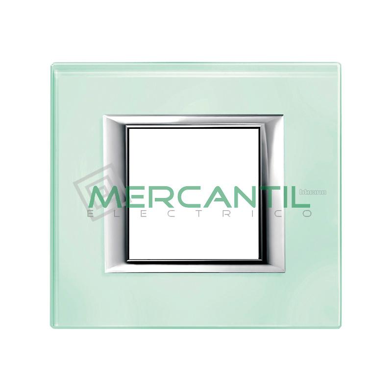 Marco Rectilíneo Universal Axolute BTICINO - Color Vidrio Kristall