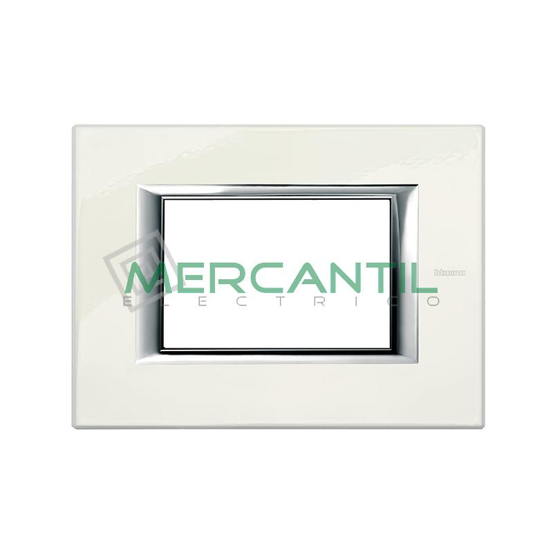 Marco Rectilineo Rectangular Axolute BTICINO - Color Blanco Limoges