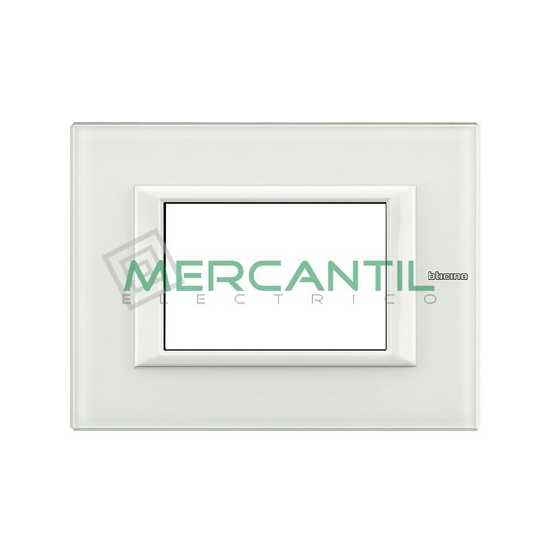 Marco Rectilineo Rectangular Axolute BTICINO - Color Cristal Blanco