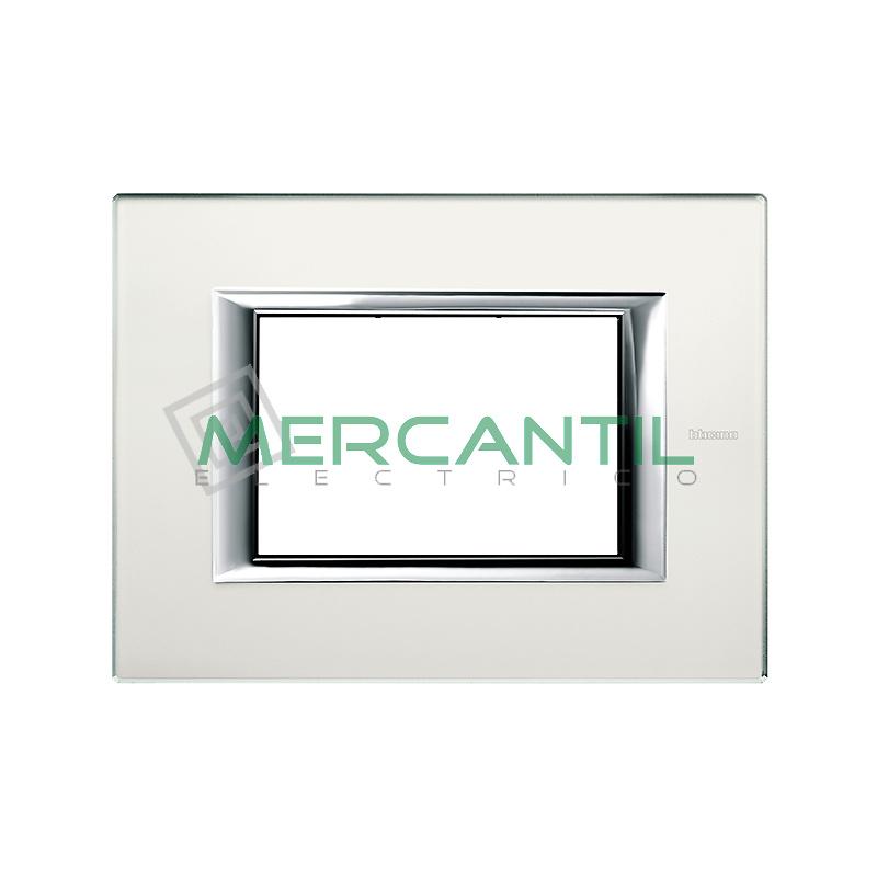 Marco Rectilineo Rectangular Axolute BTICINO - Color Cristal Espejo